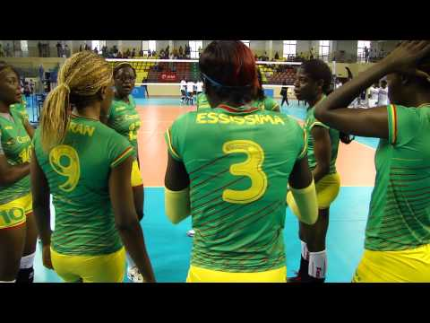 Cameroon Women team warming up at Women's All Africa Games