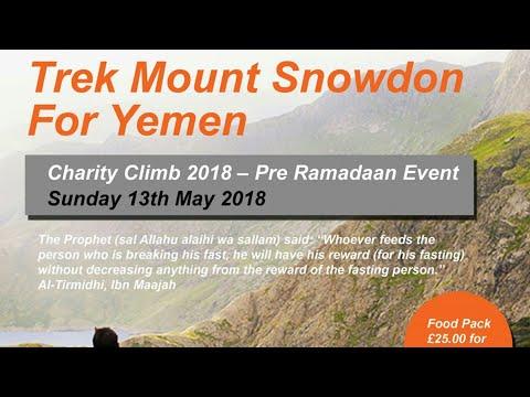 Snowdon Trek for Yemen | Pre Ramadhan Event Sunday 13th May 2018