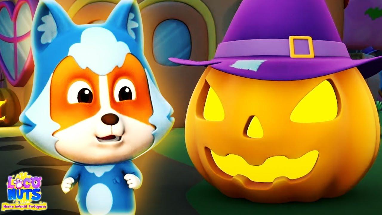 Há uma abóbora assustadora | Rimas de halloween | Loco Nuts | Desenho animado | Musicas infantil
