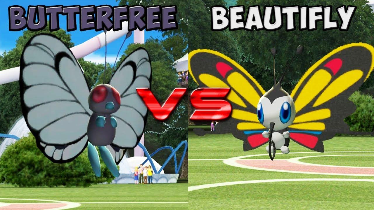 pokemon battle revolution butterfree vs beautifly youtube