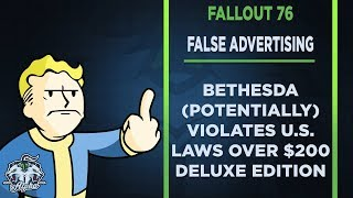 Bethesda Engages in False Advertising with $200 Fallout 76 Power Armor Edition