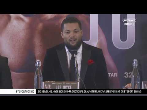 Full Joe Joyce press conference | Anthony Joshua fight, BT Sport debut date, Daniel Dubois