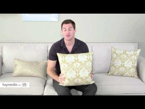 Pillow Perfect Gold Damask 18 in. Embroidered Throw Pillow - Product Review Video