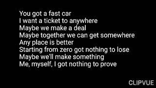 Tracy chapman - fast car ( lyrics ...