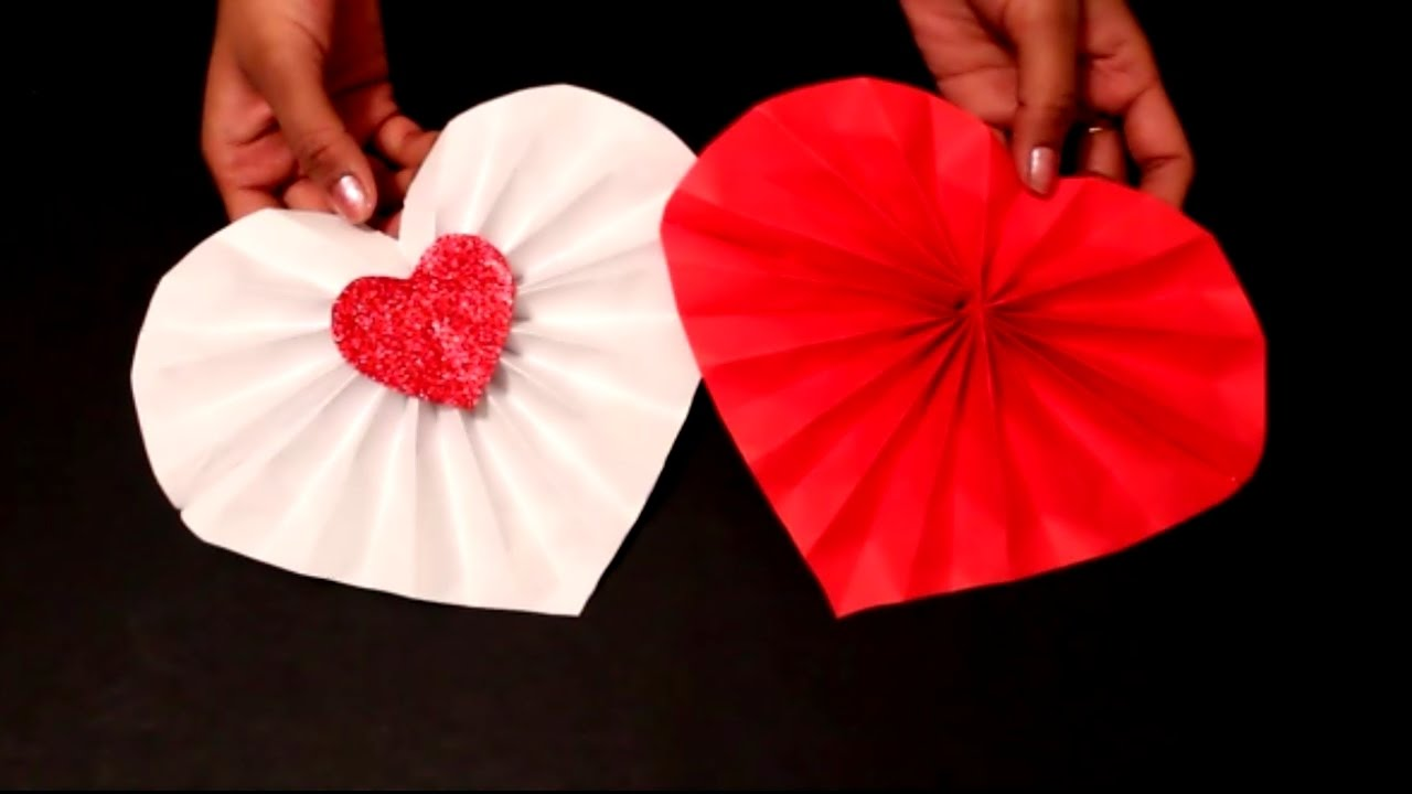 DIY Easy Valentines Day Craft Paper Heart Decoration Ideas