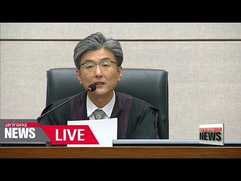 [LIVE/ARIRANG NEWS] Fate of impeached former President Park Geun-hye decided today - 2018.04.06