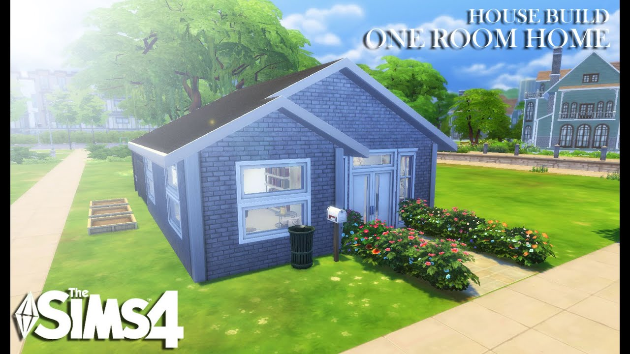 The Sims 4 House Build One Room Home Youtube