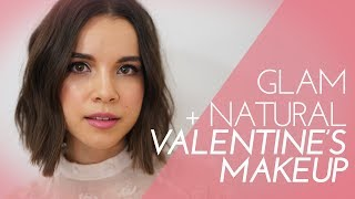 2 Makeup Looks for Valentine's Day! Natural + Glam | Ingrid Nilsen