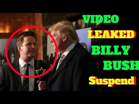 Billy Bush Suspended today by nbc Secret Recording Video LEAKED