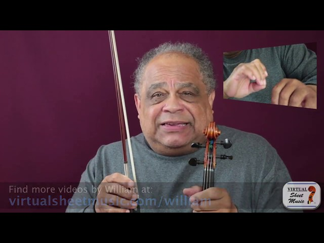 Where to place the left hand thumb on your violin - Violin Lesson