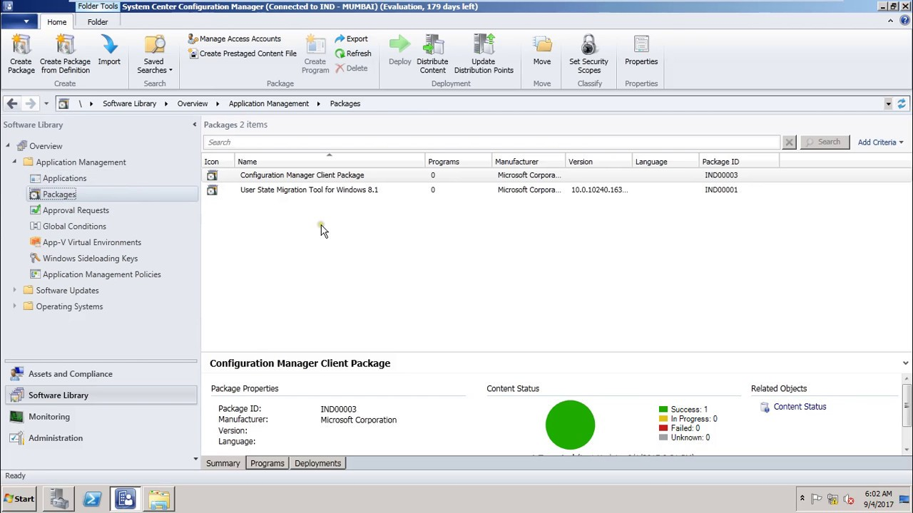 11-SCCM 2012 Creating application and Deploy MSI application
