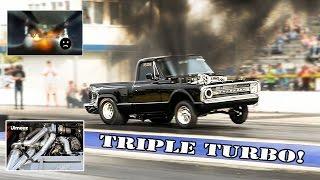 TRIPLE TURBO DURAMAX!  STREET LEGAL! 8.47@165MPH TRACK DIESEL RECORD! SEASON ENDING FIRE :( BYRON!