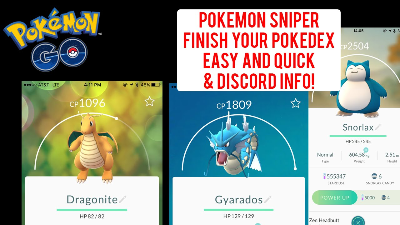 #PokemonGO Snipe Bot! & Discord to share locations! FINISH THAT POKEDEX  EASY!