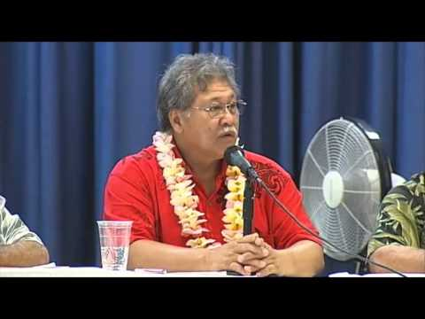 Angel Pilago - Hawaii County Mayoral candidate forum in Kona (Aug. 2008)