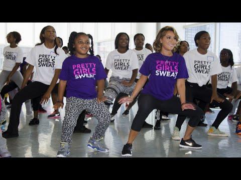 Adrienne Bailon Hosts Pretty Girls Sweat Zumba Party