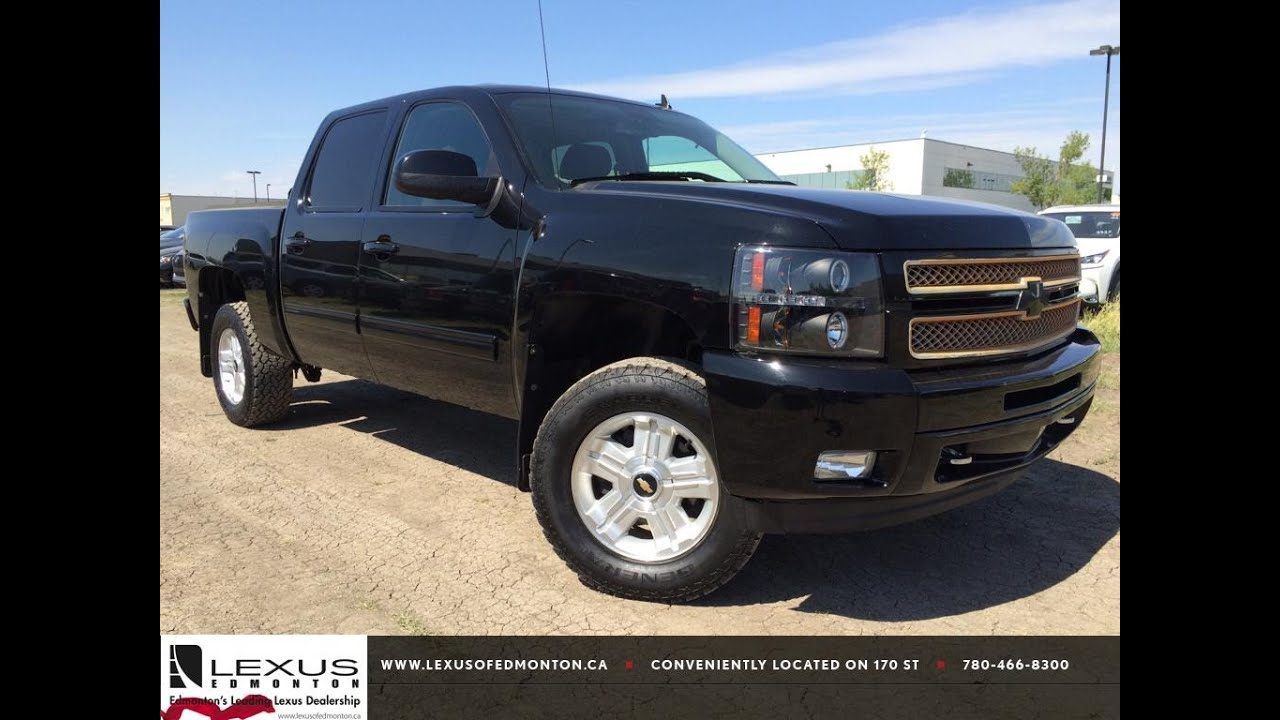 Pre owned black 2012 chevrolet silverado 1500 4wd crew cab 143 5 lt review athabasca alberta youtube