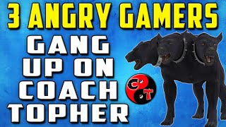 3 Angry Gamers Gang Up On Coach Topher (Black Ops Gun Game Reactions)