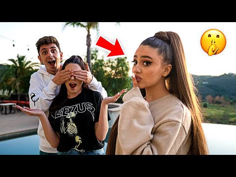 Surprising my Friends with ARIANA GRANDE!! **crazy freakout**