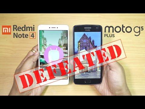 Moto G5 Plus vs Redmi Note 4 - Fingerprint & SPEED TEST!!