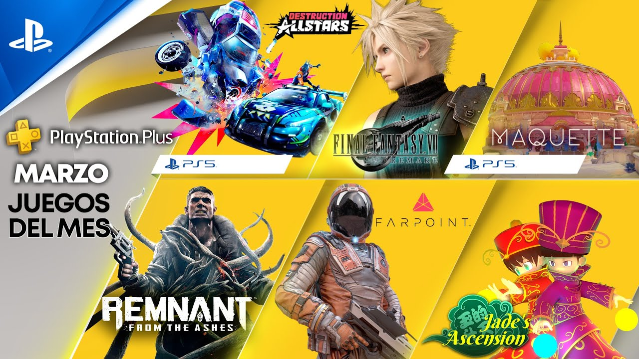 MARZO en PS PLUS - Destruction AllStars, Final Fantasy VII Remake, Remnant: From the Ashes, Farpoint