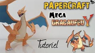 Papercraft - MEGA Dracaufeu Y ! Tutoriel pour construire ton Pokemon en 3D ! Mega Charizard Y