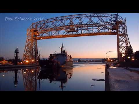 USCG vessel Alder on a smooth as glass canal
