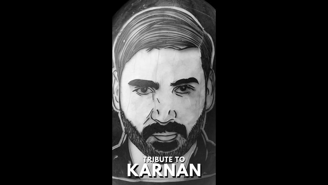 Karnan Dhanush Portrait on Watermelon   Karnan   Tribute to Karnan #shorts