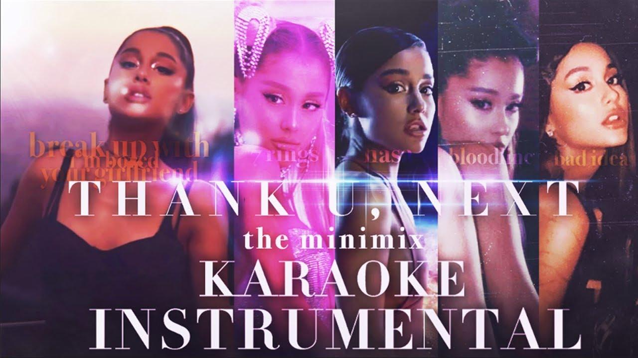 THANK U, NEXT ALBUM MINIMIX | Karaoke Instrumental!