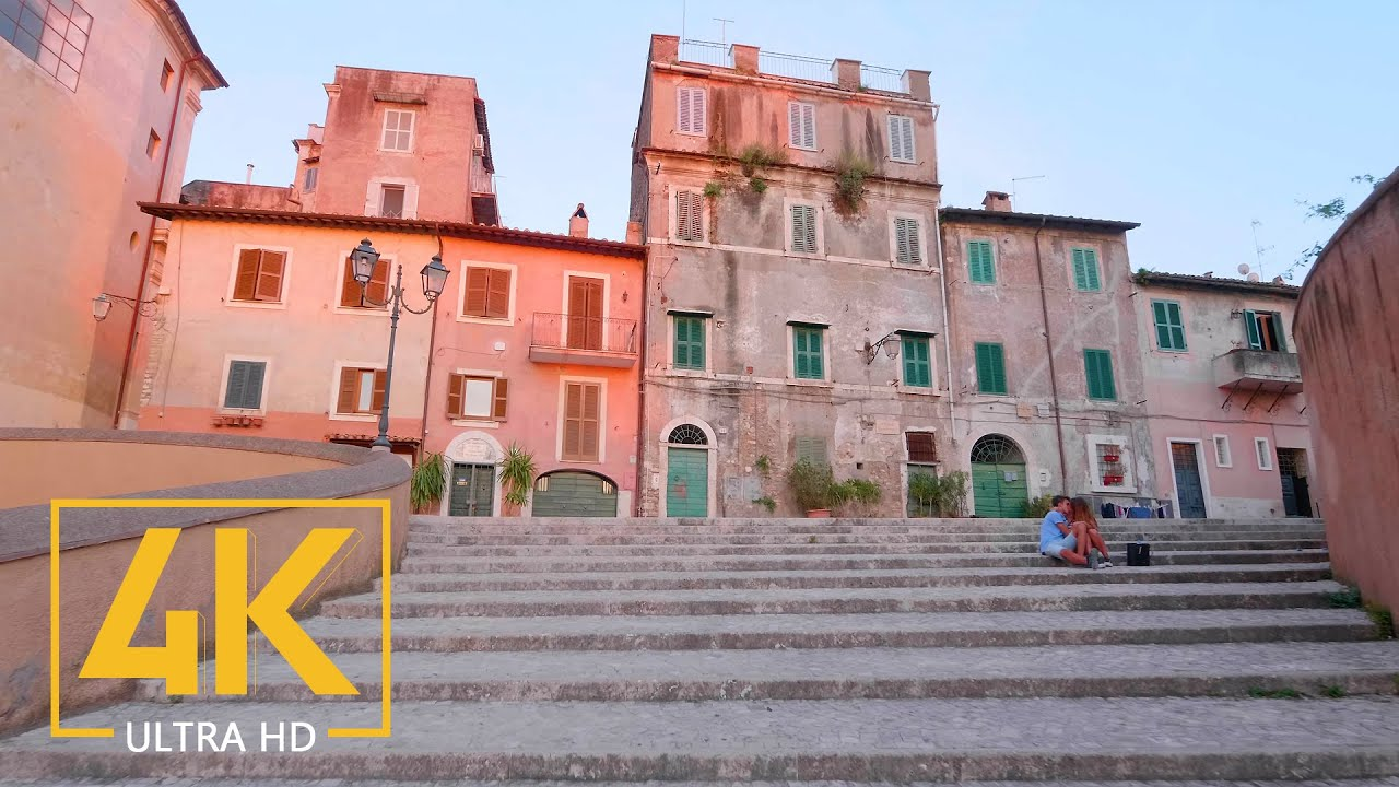 Virtual Walking Tour in 4K 60fps - TIVOLI, Lazio - Trip to Italy - Top Italian Destinations