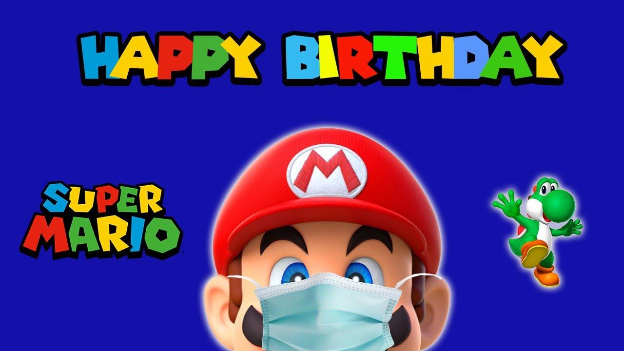 Super Mario Bros Kids Birthday Invitation Happy Birthday Mario Happy Birthday Mario Bros 2021 Youtube