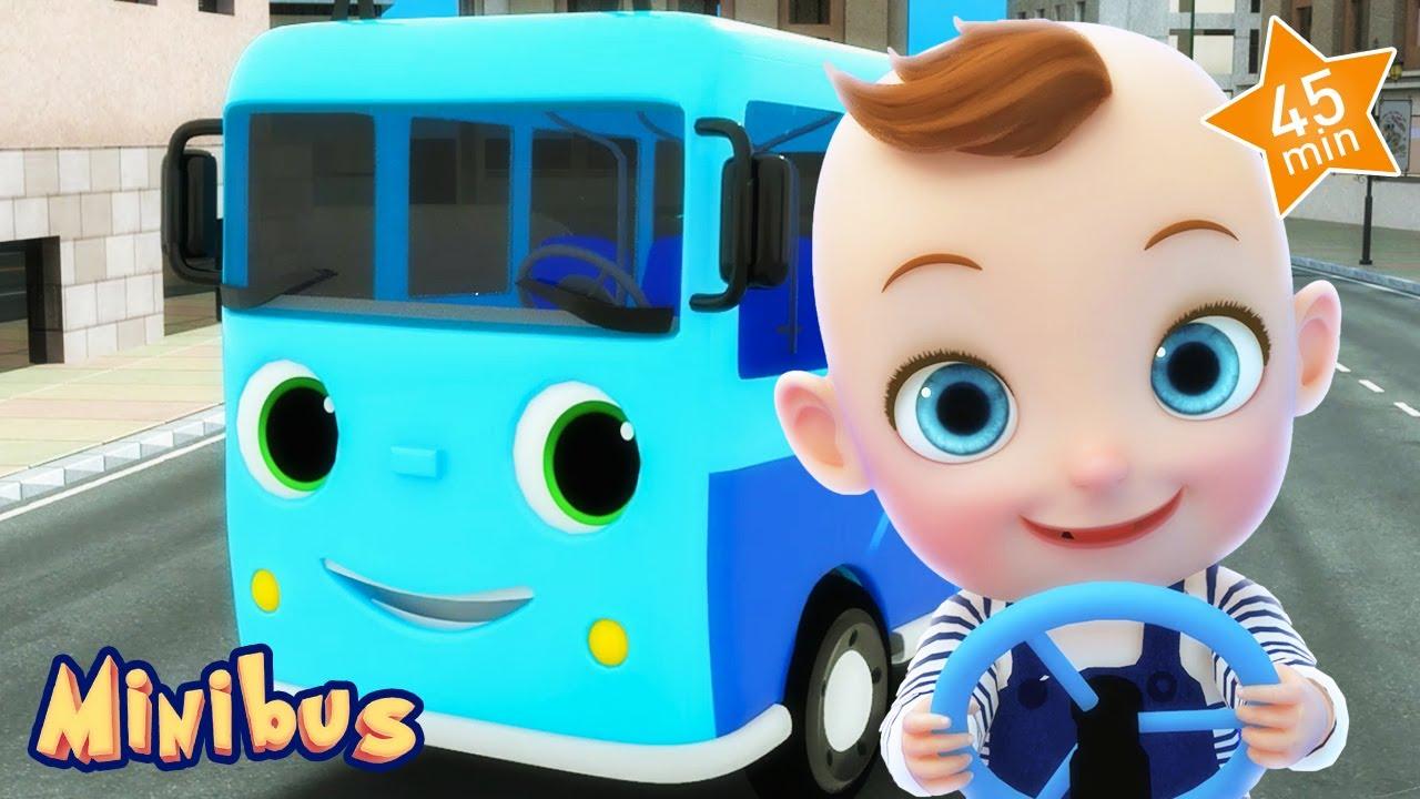Wheels On The Bus - with Minibus - Nursery Rhymes & Kids Songs