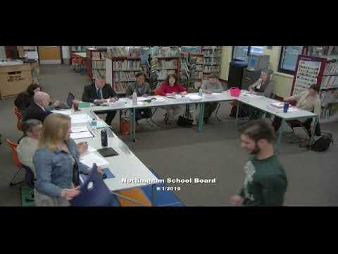 Nottingham School Board Meeting 5/1/2019