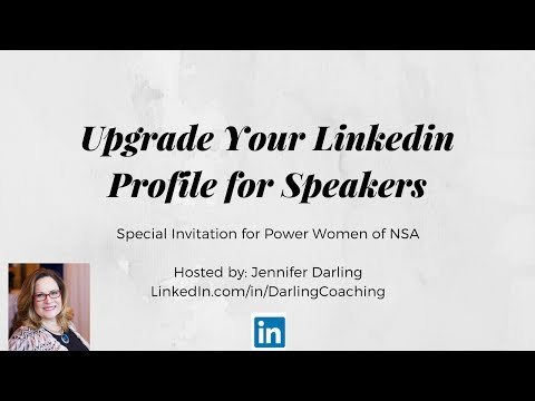 Upgrade Your LinkedIn Profile for Speakers