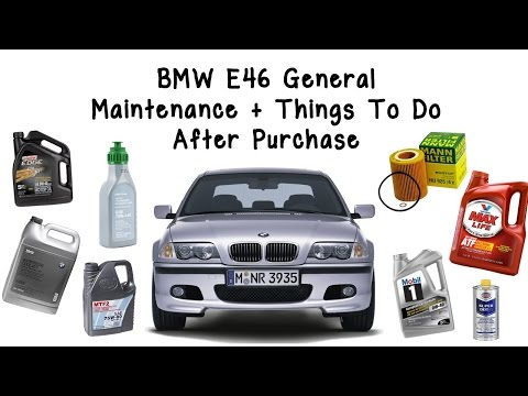 BMW E46 General Maintenance+Things To Do After Purchase