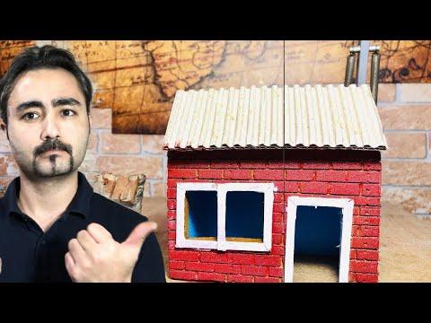 Karton ve Strafor ile  Ev Yapımı