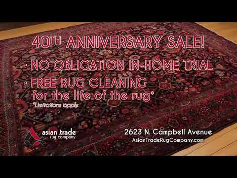 40th Anniversary Rug Sale | Asian Trade