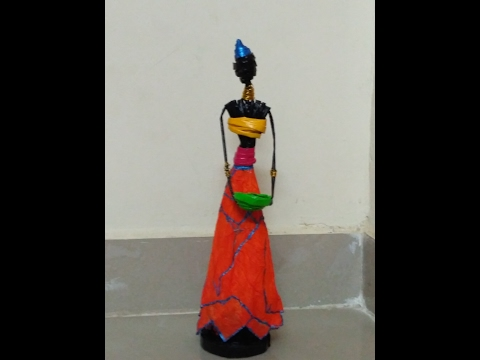 African Doll Making with News Paper Tubes