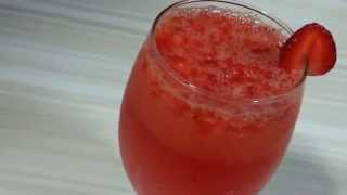Strawberry lemon slushstrawberry lemonade-healthy