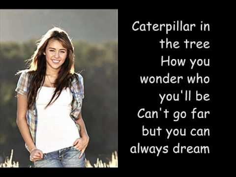 Miley Cyrus-Butterfly fly away (Lyrics)