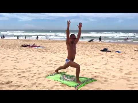 Australia- Yoga routine at Manly Beach
