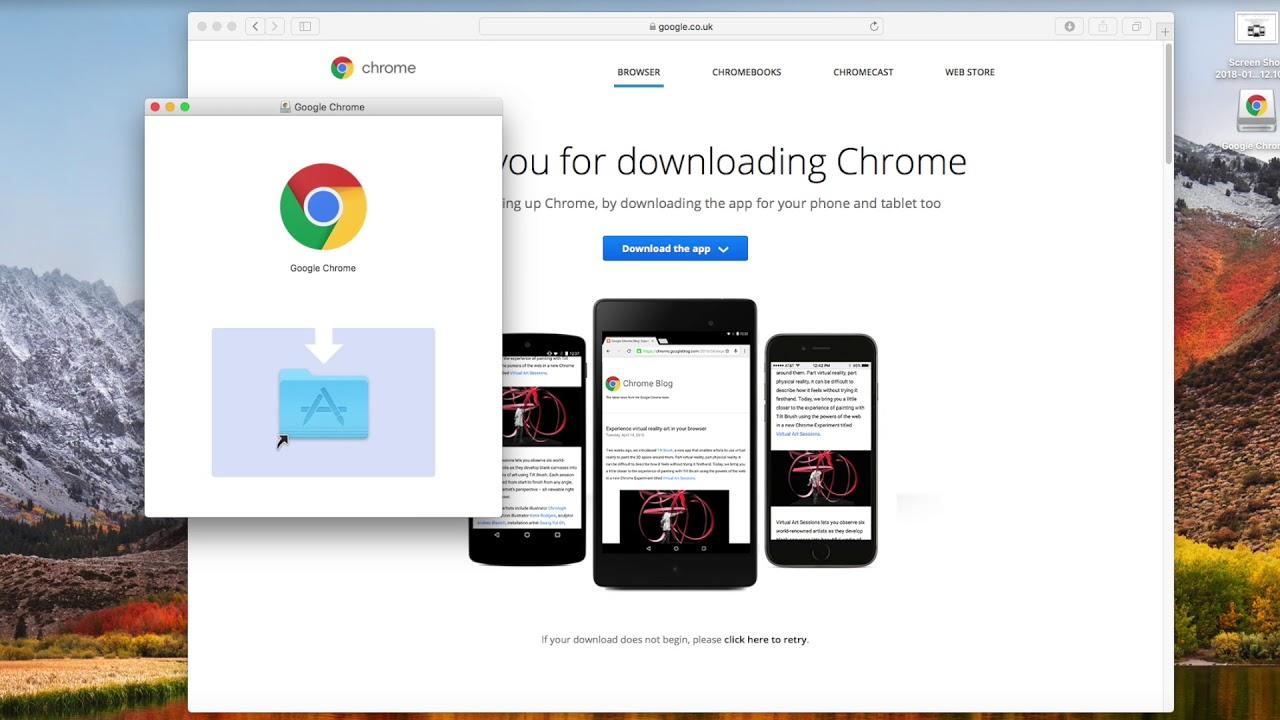 Install Chrome on Mac OSX High Sierra