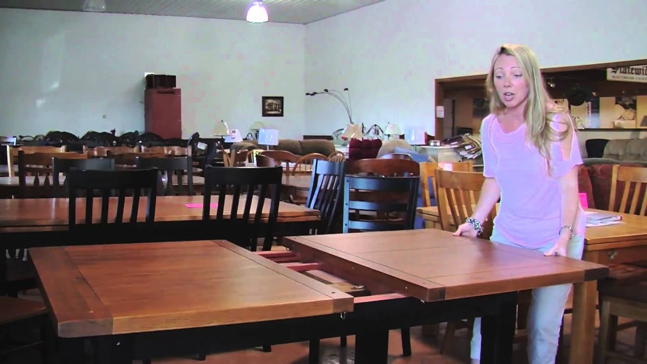 Statewide Furniture - Butterfly Leaf Table Demonstration - YouTube
