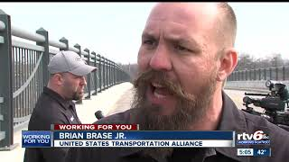 Truckers protest working conditions