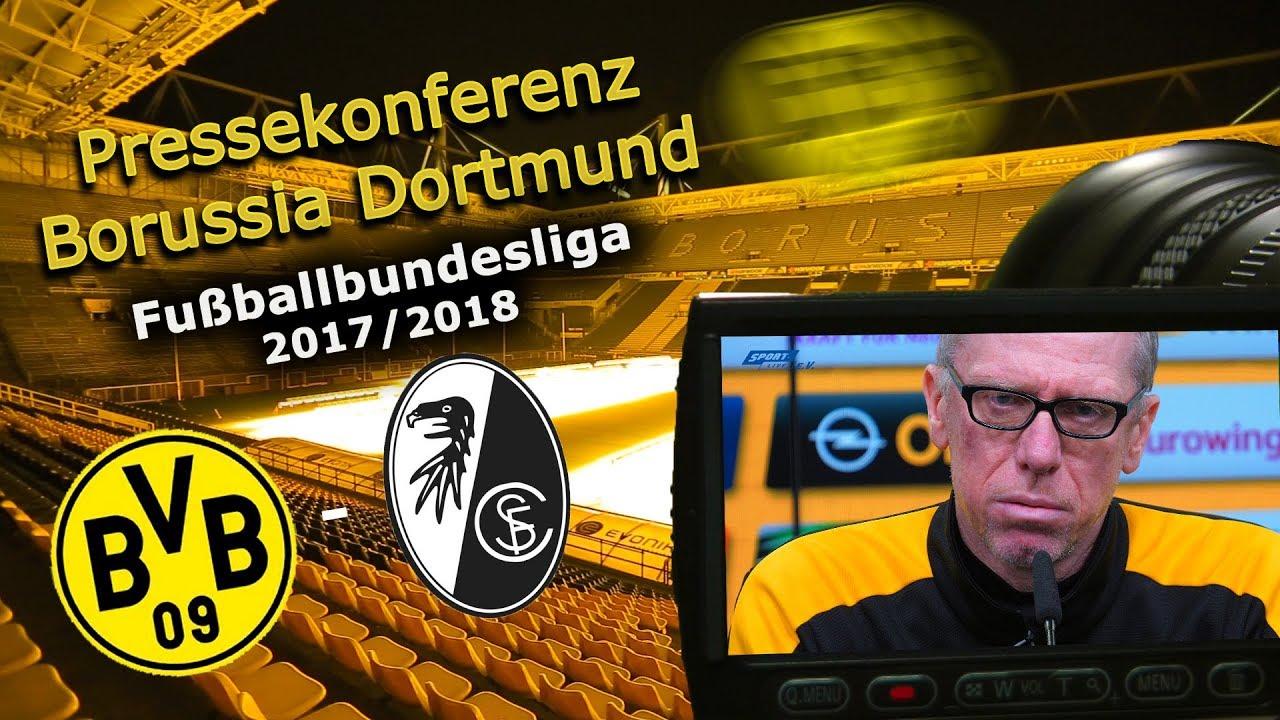 Borussia Dortmund - SC Freiburg: Pk mit Peter Stöger