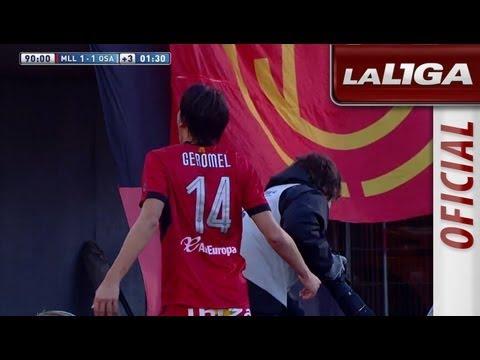 Gol de Pedro Geromel (1-1) en el RCD Mallorca - Osasuna - HD