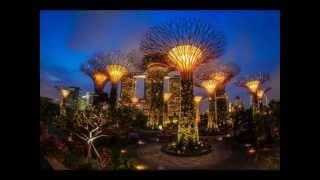 Топ 10 фото Футуристические сады Сингапура, познавательное видео