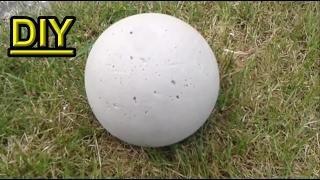 Betonkugel im Ball selber gießen / Beton Gartendeko selbst herstellen DIY Gartenkugel machen / bauen