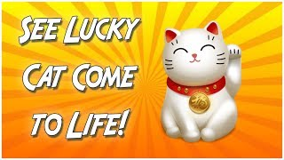 Lucky Cat Comes to Life!  招き猫 [animated video] [720p]