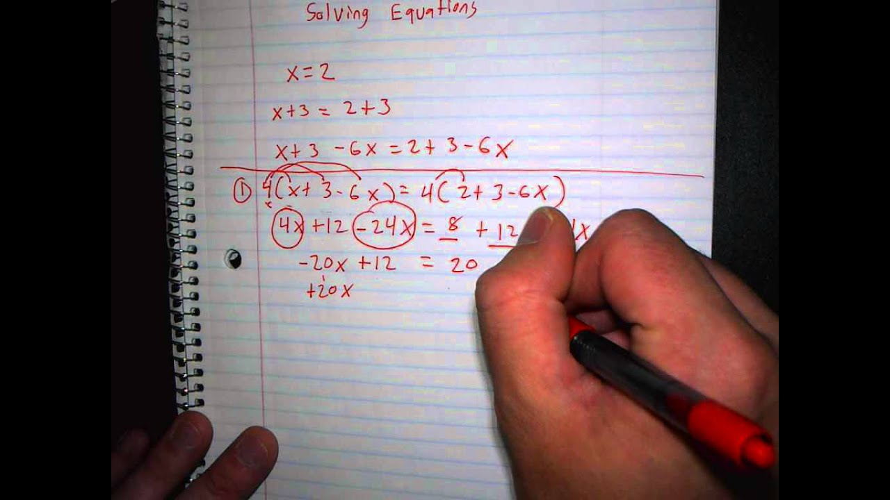 Introduction To 1 4 Solving Equations Including One Solution No Solutions Infinite Solutions