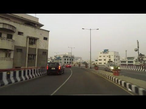 Driving in Hyderabad (PV Narasimha Rao Expressway) - Telangana, India